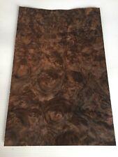 Walnut Burr Veneer - NATURAL WOOD Sheet - 280mm x 180mm (11 x 7 inches)