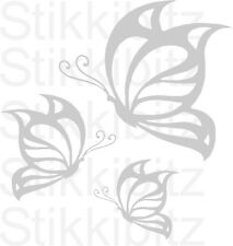 3 x Etch Etched Effect Butterfly Kitchen Home Window Mirror Sticker SBET7