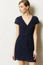 NIP Anthropologie Siena Dress by MYNE, Navy, Floral Lace, Size 6, Was $188