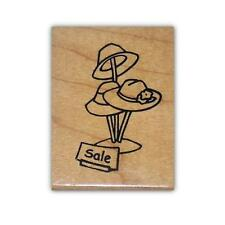 HAT SALE mounted rubber stamp, Red Hat Society, ladies fashion #5