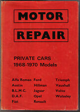Motor Repair Cars 1968-70 Alfa Austin Mini Daf Fiat Jaguar Opel Triumph Volvo +