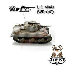 War Room 1/144 M4A1 US Sherman Tank #C Prepainted Pre-assembled WWII Bid  WR001C