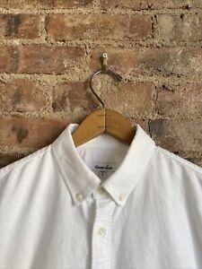 Steven Alan Men's Oxford Shirt, Size Medium White