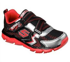 New Boys Assemblers Protons Sneaker Black/Red w/Zigzag Strap Size 2
