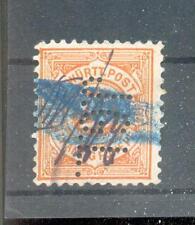 Württemberg Firmenlochung Perfin Postmarked (A2390