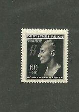 MNH 1943 Postage stamp / Reinhard Heydrich  Death mask stamp / Third Reich WWII