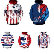 New England Patriots Hoodies Casual Hooded Sweatshirt Pullover Men's Jacket Coat