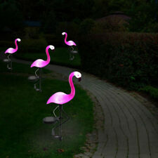 US 18cm Solar Powered Pink Flamingo Ornament Garden Outdoor Light Lawn Lamp Xmas
