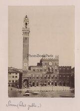 Sienne Siena Anneau de bronze Italie Italia Photo Lombardi Vintage albumen
