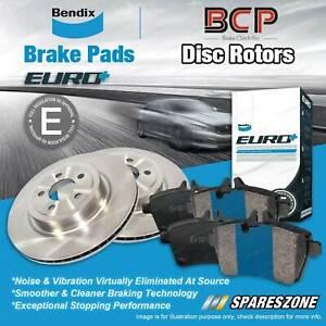Front Disc Rotors + Bendix Euro Brake Pads for Mercedes Benz CLK240 CLK280 C209