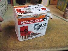WINCHESTER SUPER STEEL MAGNUM LOAD shot shell shotgun box empty 12 ga