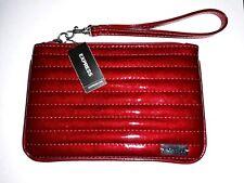 New Express Bumper Car Red Diamond Stitched Zipper Wristlet Clutch Sold Out Rare