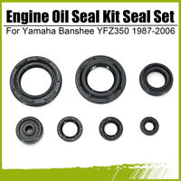 🔥 7PCS Engine Oil Seal Kit Seal Set For Yamaha Banshee YFZ350 1987-2006 @ #%