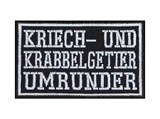Kriech- und Krabbelgetier Umrunder Biker Patches Aufnäher Motorrad MC Rocker MC