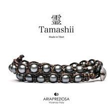 AUTENTICO TAMASHII BRACCIALE TIBET EMATITE SATINATA 2 Giri - Monaci Tibetani