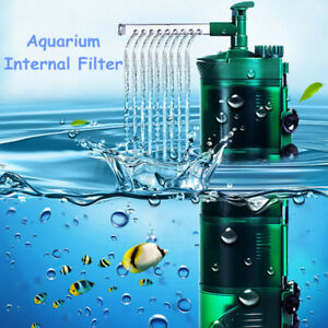 3 in 1 Aquarium Internal Filter Submersible Fish Tank Oxygen Circulation