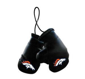 Denver Broncos NFL Mini Boxing Gloves Rearview Mirror Auto Car Truck
