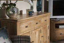 Solid Oak Large Sideboard / Storage Cupboard / Solid Wood Buffet New England