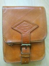 Gürteltasche Reisetasche Hüfttasche Leder Vintage Farbe Cognac mit Schlaufe