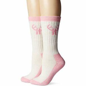 Huntworth Womens Merino Wool Cushion Wicking Outdoor Sport Crew Boot Socks 2PK