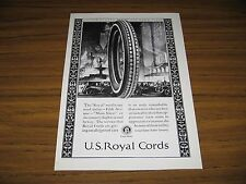 1924 Print Ad US Royal Cords Tires Old Cars in the Big City