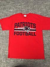 NFL Team Apparel New England Patriots Adult Men's T-Shirt Red