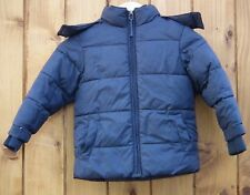 NEXT Boys Black/Grey Hooded Winter Coat Age 4yrs, Height 104cm