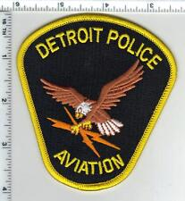 Detroit Police (Michigan) Aviation Black Background Shoulder Patch - new