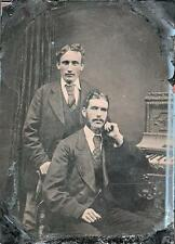 ORIG VICTORIAN Tintype / Ferrotype Photo c1860's TWO GENTLEMEN / GAY INTEREST?