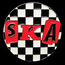 BOUCLE DE CEINTURE SKA PUNK MUSIC BANDS SONGS MUSICIANS CHECKER  BELT BUCKLES