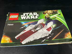 LEGO Star Wars 75003  A-Wing Starfighter  Instruction Manual Booklet