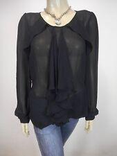 WAYNE COOPER Long Sleeve Flowy Top / Shirt sz 10 - BUY Any 5 Items = Free Post