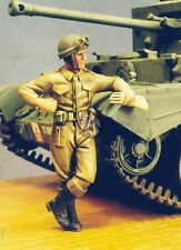 Resicast 1/35 Motorcycle MP at Ease leaning on Vehicle gloves in hand 355559