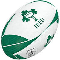 Gilbert Ireland Supporter Rugby Union League Ball White/Green - 5