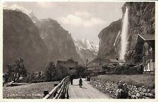 Switzerland Lauterbrunnen mit Staubach RPPC 03.67
