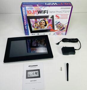 "Black Sylvania SDPF1095-B 10.1"" WiFi Digital Picture LED Photo Touchscreen Frame"