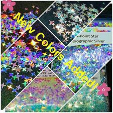4-POINT STAR Shape Glitter~You Choose~Nail Art•Face•Festival•USA✨