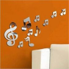 Musical Notes Acrylic 3D Mirror Wall Sticker Mural Decal Removable Stickers Hot