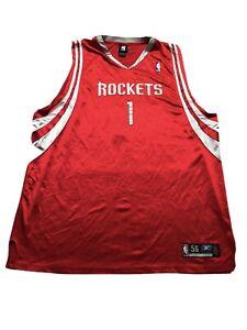 Vintage Authentic Tracy McGrady Houston Rocket NBA Reebok Jersey 56 3X 28.5x36.5