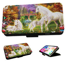 Unicorn Family Fantasy - Flip Phone Case Wallet Cover Fits Iphone & Samsung