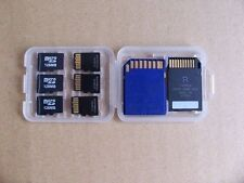 8in1 SD MS Micro SD TF Card Storage Holder Carrying plastic Case box F 32G 16G