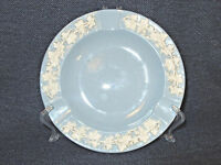 "Wedgwood Etruria & Barlaston Embossed Queensware Blue and White 6"" Ashtray EUC"