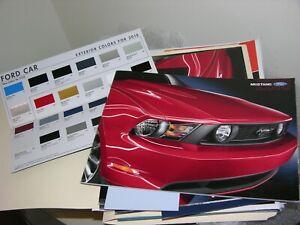 2010 Ford Mustang Sales Car Brochure Catalog GT Shelby GT500 Convert +BONUS