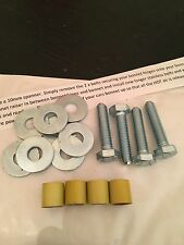 12mm Gloss Yellow Bonnet Raisers/Spacers Rover MG ZR 200 75 25