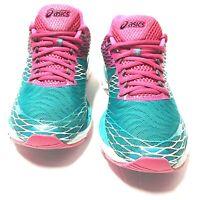 Asics Gel Nimbus 18 Womens Running Shoes Sneakers Teal Pink T650N Size 9 Us
