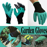 Garden Genie Planting Gloves for Digging Planting Gardening 4 Claws Lawn Care