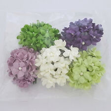 50 Paper Flowers Wedding Party Scrapbook Toppers Basket DIY Craft Supply S15-600