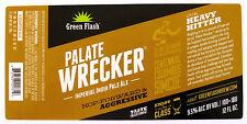 Green Flash Brewing PALATE WRECKER beer label CA 12oz