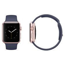 Apple Watch Series 2 42mm Rose Gold Aluminium Case Midnight Blue Sport Band VGC