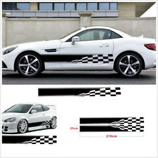 2X Universal Car Decal Stickers Graphic Checkered Flag Sports Style Waterproof